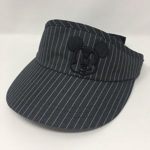 Disney Golf Visor Women's Black Pinstripe Mickey
